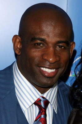 NEW YORK - MAY 12:  Former football player Deion Sanders arrives for the NBC Universal Experience at Rockefeller Center as part of upfront week on May 12, 2008 in New York City.  (Photo by Bryan Bedder/Getty Images)