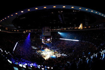 ORLANDO, FL - JUNE 11:  A general view during player introductions before the Los Angeles Lakers take on the Orlando Magic in Game Four of the 2009 NBA Finals on June 11, 2009 at Amway Arena in Orlando, Florida.  NOTE TO USER:  User expressly acknowledges