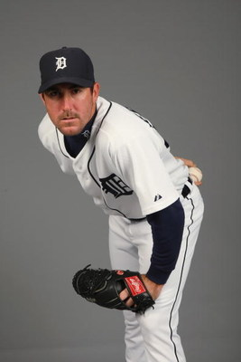 LAKELAND, FL - FEBRUARY 21:  Justin Verlander #35 of the Detroit Tigers poses for a portrait during Photo Day on February 21, 2009 at Joker Marchant Stadium in Lakeland, Florida. (Photo by: Nick Laham/Getty Images)