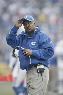 SEATTLE - DECEMBER 24:  Assistant head coach Jim Caldwell of the Indianapolis Colts looks on against the Seattle Seahawks at Qwest Field on December 24, 2005 in Seattle, Washington. The Seahawks defeated the Colts 28-13.  (Photo by Otto Greule Jr/Getty Im