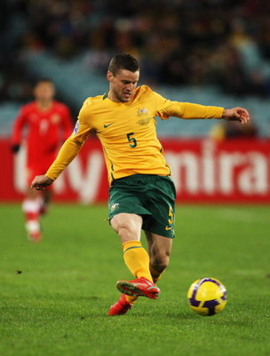 SYDNEY, AUSTRALIA - JUNE 10:  Jason Culina of the Socceroos passes the ball during the 2010 FIFA World Cup Asian qualifying match between the Australian Socceroos and Bahrain at ANZ Stadium on June 10, 2009 in Sydney, Australia.  (Photo by Mark Kolbe/Gett