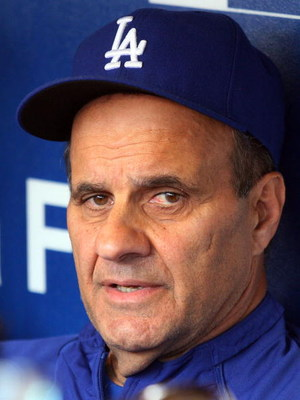 NEW YORK - JULY 07:  Manager Joe Torre of the Los Angeles Dodgers speaks to the media prior to their game against the New York Mets on July 7, 2009 at Citi Field in the Flushing neighborhood of the Queens borough of New York City.  (Photo by Jim McIsaac/G