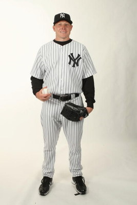 TAMPA, FL - FEBRUARY 19:  Mark Melancon #78 of the New York Yankees poses during Photo Day on February 19, 2009 at Legends Field in Tampa, Florida. (Photo by Nick Laham/Getty Images)