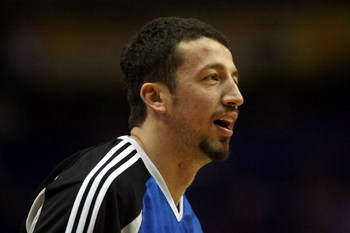 ORLANDO, FL - JUNE 14:  Hedo Turkoglu #15 of the Orlando Magic warms up before Game Five of the 2009 NBA Finals against the Los Angeles Lakers on June 14, 2009 at Amway Arena in Orlando, Florida.  NOTE TO USER:  User expressly acknowledges and agrees that
