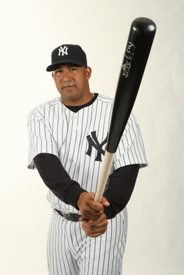 TAMPA, FL - FEBRUARY 19:  Jose Molina #26 of the New York Yankees poses during Photo Day on February 19, 2009 at Legends Field in Tampa, Florida. (Photo by Nick Laham/Getty Images)