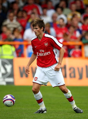 LONDON - JULY 19:  Havard Nordtveit  Arsenal during the Pre Season Friendly match between Barnet and Arsenal at Underhill on July 19, 2008 in London, United Kingdom.  (Photo by Phil Cole/Getty Images)
