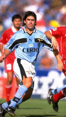 13 Sep 1998:  Marcelo Salas of Lazio in action during the Serie A game against Piacenza, Italy. \ Mandatory Credit: Allsport UK /Allsport