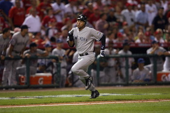 ST. LOUIS, MO - JULY 14:  American League All-Star Derek Jeter of the New York Yankees rounds third base during the 2009 MLB All-Star Game at Busch Stadium on July 14, 2009 in St Louis, Missouri. (Photo by Dilip Vishwanat/Getty Images)