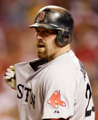 ST LOUIS, MO - JULY 14:  American League All-Star Kevin Youlkilis of the Boston Red Sox pops his collar  during the 2009 MLB All-Star Game at Busch Stadium on July 14, 2009 in St Louis, Missouri.  (Photo by Jamie Squire/Getty Images)