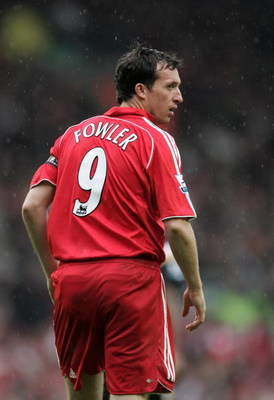 LIVERPOOL, UNITED KINGDOM - MAY 13:  Robbie Fowler of Liverpool in action the Barclays Premiership match between Liverpool and Charlton Athletic at  Anfield on May 13, 2007 in Liverpool, England.  (Photo by Phil Cole/Getty Images)