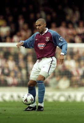 14 Nov 1998:  Stan Collymore of Aston Villa in action during the FA Carling Premiership match against Southampton at The Dell in Southampton, England. Aston Villa won the game 4-1. \ Mandatory Credit: Phil Cole /Allsport