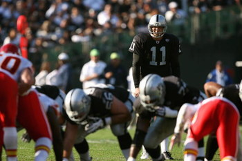 OAKLAND, CA - NOVEMBER 30:  Sebastian Janikowski #11 of the Oakland Raiders gets ready to kick a field goal against the Kansas City Chiefs during an NFL game on November 30, 2008 at the Oakland-Alameda County Coliseum in Oakland, California. (Photo by Jed