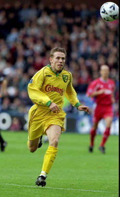 17 Oct 1998:  Craig Bellamy of Norwich City in action during the Nationwide Division One game against Crystal Palace at Selhurst Park in London. Palace won 5-1. \ Mandatory Credit: Craig Prentis /Allsport