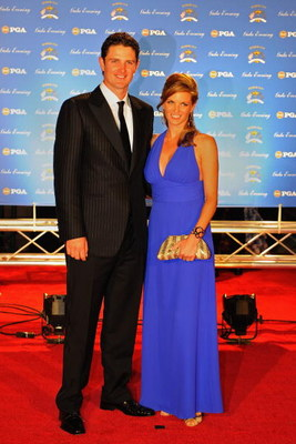 LOUISVILLE, KY - SEPTEMBER 17:  Justin Rose of England and the European Ryder Cup team poses with his wife Kate on the red carpet before the Ryder Cup Gala dinner prior to the start of the 2008 Ryder Cup September 17, 2008 in Louisville, Kentucky.  (Photo