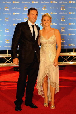 LOUISVILLE, KY - SEPTEMBER 17:  Oliver Wilson of England and the European Ryder Cup team poses with Laura Smith arrive on the red carpet for the Ryder Cup Gala dinner prior to the start of the 2008 Ryder Cup September 17, 2008 in Louisville, Kentucky.  (P