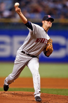 ST. PETERSBURG, FL - SEPTEMBER 19: Starting pitcher Nick Blackburn #53 of the Minnesota Twins pitches against the Tampa Bay Rays during the game on September 19, 2008 at Tropicana Field in St. Petersburg, Florida. (Photo by J. Meric/Getty Images)
