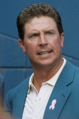07 Oct 2001: Dan Marino observes during the game at Pro Player Stadium in Miami, Florida. The Dolphins defeated the Patriots 30-10. DIGITAL IMAGE. Mandatory Credit: Eliot Schechter/Allsport