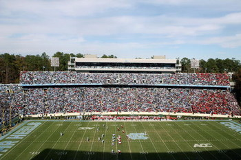 CHAPEL HILL, NC - NOVEMBER 22:  A general view of the field taken during the game between the North Carolina Tar Heels and the North Carolina State Wolfpack at Kenan Stadium on November 22, 2008 in Chapel Hill, North Carolina. (Photo by Streeter Lecka/Get