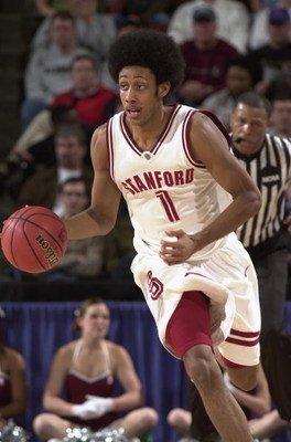 SEATTLE - MARCH 18:  Josh Childress #1 of the Stanford University Cardinal drives against the University of Texas at San Antonio Roadrunners during the 1st Round of the NCAA Division I Men's Basketball Tournament at Key Arena on March 18, 2004 in Seattle,