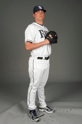 PORT CHARLOTTE, FLORIDA - FEBRUARY 20: Jake McGee #57 of the Tampa Bay Rays poses during Photo Day on February 20, 2009 at the Charlotte County Sports Park in Port Charlotte, Florida. (Photo by: Nick Laham/Getty Images)
