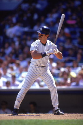 BRONX, NY - 1990:  Don Mattingly #23 of the New York Yankees stands ready at the plate during a 1990 MLB season game at Yankee Stadium in the Bronx, New York.  (Photo by Scott Halleran/Getty Images)