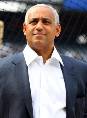 NEW YORK - MAY 08:  Executive Vice President of Baseball Operations & General Manager Omar Minaya of the New York Mets looks on before playing the Pittsburgh Pirates on May 8, 2009 at Citi Field in the Flushing neighborhood of the Queens borough of New Yo