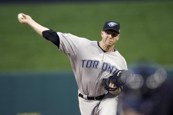 ST. LOUIS, MO - JULY 14: American League All-Star Roy Halladay of the Toronto Blue Jays pitches during the 2009 MLB All-Star Game at Busch Stadium on July 14, 2009 in St Louis, Missouri. (Photo by Pool/Getty Images)