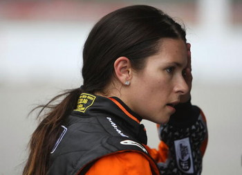 TORONTO, ON - JULY 11:  Danica Patrick, driver of the #7 Boost Mobile/Motorola Dallara Honda in pit lane during qualifying for the Indycar Series Honda Indy Toronto on July 11, 2009 in Toronto, Canada.  (Photo by Nick Laham/Getty Images)