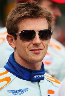 LE MANS, FRANCE - JUNE 12:  Anthony Davidson of Great Britain and Aston Martin attends the drivers parade prior to the Le Mans 24h Race on June 12, 2009 in Le Mans, France.  (Photo by Bryn Lennon/Getty Images)