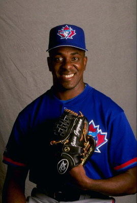 18 Feb 1998: Juan Guzman #57 of the Toronto Blue Jays at Spring Training in Dunedin, Florida.