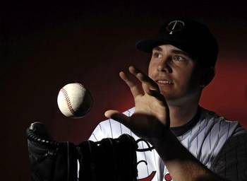 FORT MYERS, FL - FEBRUARY 25:  Brian Duensing of the Minnesota Twins poses for photos during spring training media day February 25, 2008 at the Lee County Sports Complex in Fort Myers, Florida.  (Photo by Marc Serota/Getty Images)