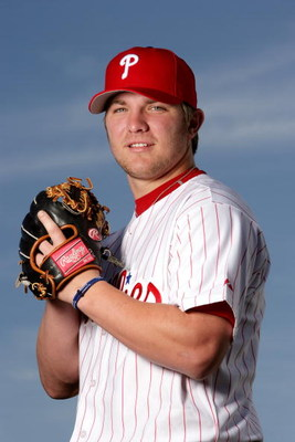 CLEARWATER, FL - FEBRUARY 24:  Kyle Drabek of the Philadelphia Phillies poses during Photo Day on February 24, 2007 at Brighthouse Networks Field in Clearwater, Florida. (Photo by Al Bello/Getty Images)