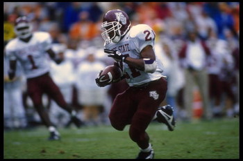 22 Nov 1995: Running back Keffer McGee of Mississippi carries the football during the Bulldogs 52-14 loss to the University of Tennessee at Neyland Stadium in Knoxville, Tennessee.