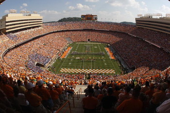 KNOXVILLE, TN - SEPTEMBER 20:  General view of the interior of Neyland Stadium before the game between the Florida Gators and the Tennessee Volunteers on September 20, 2008 in Knoxville, Tennessee.  (Photo by Streeter Lecka/Getty Images)