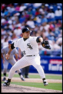 8 May 1994: Pitcher Alex Fernandez of the Chicago White Sox winds up for the pitch during a game against the Kansas City Royals at Comiskey Park in Chicago, Illinois.