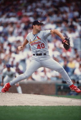 12 Jul 1996:  Pitcher Andy Benes of the St. Louis Cardinals pitches the ball during the Cardinals 13-3 win over the Chicago Cubs at Wrigley Field in Chicago, Illinois. Mandatory Credit: Jonathan Daniel/ALLSPORT