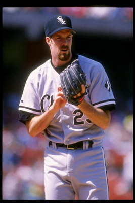 18 Sep 1993:  Pitcher Jack McDowell of the Chicago White Sox in action during a game against the Oakland Athletics at Oakland Alameda County Coliseum in Oakland, California.  Mandatory Credit: Otto Greule  /Allsport