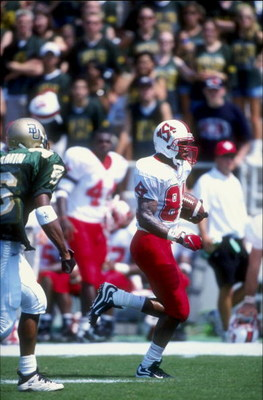 19 Sep 1998:  Wide receiver Chris Coleman #84 of the North Carolina State Wolfpack in action during a game against the Baylor Bears at the Floyd Casey Stadium in Baylor, Texas. The Bears defeated the Wolfpack 33-30. Mandatory Credit: Chris Covatta  /Allsp