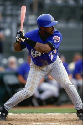 4 Mar 1999:  Outfielder Bernard Gilkey #23 of the Arizona Diamondbacks gets ready to swing during a Spring Training game against the Colorado Rockies at the Hi Corbett Field in Tucson, Arizona. The Rockies defeated the Diamondbacks 7-6. Mandatory Credit: