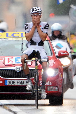 COLMAR, FRANCE - JULY 17:  Heinrich Haussler of Germany and Cervelo Test Team celebrates winning stage 13 of the 2009 Tour de France from Vittel to Colmar on July 17, 2009 in Colmar, France.  (Photo by Jasper Juinen/Getty Images)