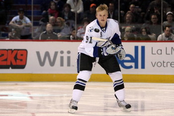 MONTREAL - JANUARY 24:  Eastern Conference All-Star Steven Stamkos of the Tampa Bay Lightning competes in the 'Scotiabank NHL Fan Fav Breakaway Challenge' during the Honda NHL Superskills competition as part of the 2009 NHL All-Star weekend on January 24,