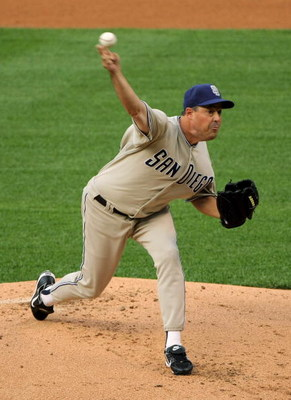 DENVER - JUNE 30:  Starting pitcher Greg Maddux #30 of the San Diego Padres delivers against the Colorado Rockies at Coors Field on June 30, 2008 in Denver, Colorado.  (Photo by Doug Pensinger/Getty Images)