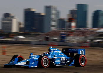 EDMONTON, AB - JULY 26:  Dario Franchitti drives his #10 Vaseline Men Lotion Target Chip Ganassi Racing Dallara Honda during the IRL IndyCar Series Rexall Edmonton Indy on July 26, 2009 at Edmonton City Centre Airport in Edmonton, Alberta, Canada.  (Photo