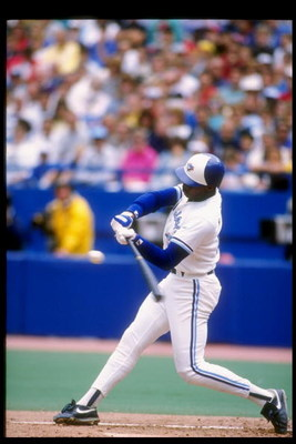 1989:  Outfielder Fred McGriff of the Toronto Blue Jays swings at the ball during a game at the Toronto Sky Dome in Toronto, Canada. Mandatory Credit: Rick Stewart  /Allsport