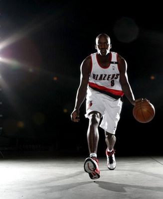 PORTLAND, OR - SEPTEMBER 29:  Martell Webster #8 of the Portland Trail Blazers poses for a portrait during Media Day for the Portland Trail Blazers at the Rose Garden on September 29, 2008 in Portland, Oregon.  NOTE TO USER: User expressly acknowledges an