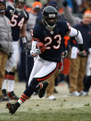 CHICAGO - DECEMBER 07: Devin Hester #23 of the Chicago Bears returns a punt against the Jacksonville Jaguars on December 7, 2008 at Soldier Field in Chicago, Illinois. The Bears defeated the Jaguars 23-10. (Photo by Jonathan Daniel/Getty Images)
