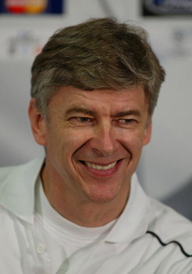 19 Mar 2002:  Arsenal Wenger, manager of Arsenal at a press conference ahead of their Champions League match against Juventus at Delle Alpi Stadium, Turin. DIGITAL IMAGE.  Mandatory Credit: Mike Hewitt/Getty Images
