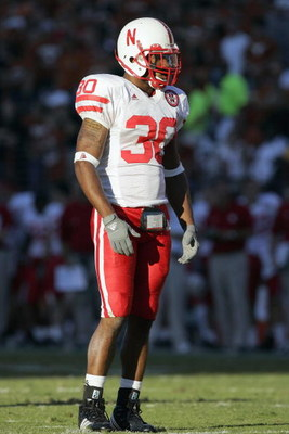 AUSTIN, TX - OCTOBER 27:  Tierre Green #30 of the Nebraska Cornhuskers stands on the field during the game against the Texas Longhorns at Darrell K Royal-Texas Memorial Stadium October 27, 2007 in Austin, Texas. Texas won 28-25. (Photo by Brian Bahr/Getty