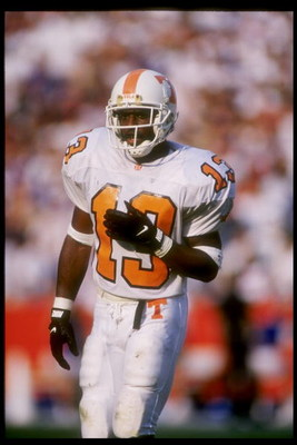 18 Sep 1993:  Cornerback Terry Fair of the Tennessee Volunteers in action during a game against the Florida Gators.  The Florida Gators won the game 41-34.    Mandatory Credit: Scott Halleran  /Allsport