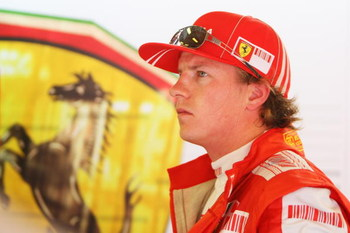 BUDAPEST, HUNGARY - JULY 25:  Kimi Raikkonen of Finland and Ferrari prepares to drive during the final practice session prior to qualifying for the Hungarian Formula One Grand Prix at the Hungaroring on July 25, 2009 in Budapest, Hungary.  (Photo by Mark